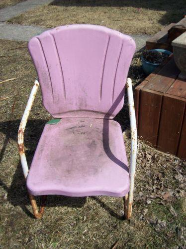 Vintage Metal Patio Chairs Ebay