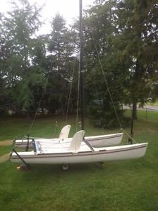 18ft Hobie Cat Red Rocked edition with trailer