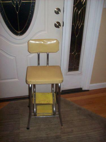 Vintage Step Stool Chair Ebay