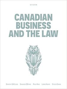 Canadian Business and Law 6th Ed textbook Ottawa