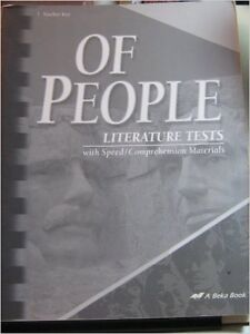 "book set ""Of People - Literature"", teacher's guide+tests+answers Kitchener / Waterloo Kitchener Area image 4"