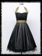 50s Halter Neck Dress Vintage