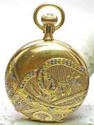 Multi Colored Pocket Watch Dial