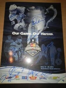 London Knights 2012-13 Signed Memorial Cup Program London Ontario image 1