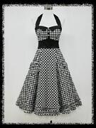 Black and White 50s Dress