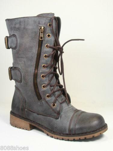 Womens Distressed Boots Ebay