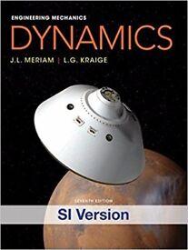 2 x books: Engineering Mechanics Dynamics & Statics (Meriam & Kraige) 7th Ed SI Version