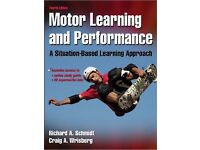 Motor Learning and Performance 4th edition. Hardcover student book.