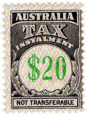 (I.B) Australia Revenue : Tax Instalment $20