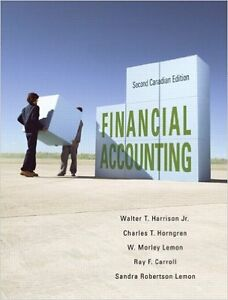 Book For sale: Financial Accounting, Second Canadian Edition 2ed