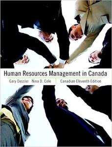 Human Resources Management in Canada - Cdn Eleventh Edition