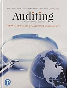 Auditing: The Art and Science of Assurance Engagements 14th ed