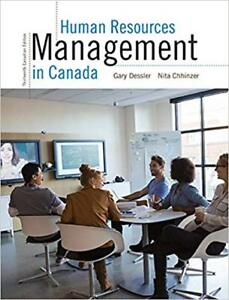 Human Resources Management in Canada, Canadian 13th Edition, Pea