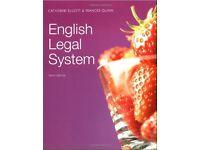English Legal System. Catherine Elliott, Frances Quinn. Used