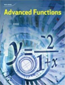 Nelson Advanced Functions 12 Textbook PDF and ANSWERS