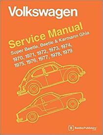 V good condition (paperback) Volkswagen Beetle, Super Beetle, Karmann Ghia Official Service Manual