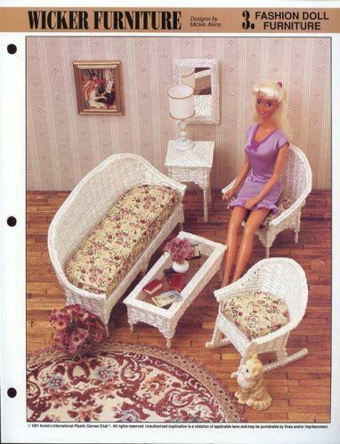 Plastic Canvas Barbie Doll Furniture Patterns Ebay