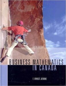 Book For sale: BUSINESS MATHEMATICS IN CANADA  (5th Edition)