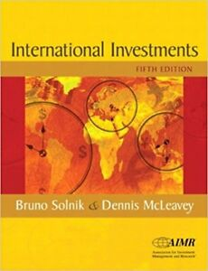 International Investments (5th Edition) by Solnik & McLeavey