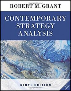 Contemporary Strategy Analysis. 9th ed R.M. Grant