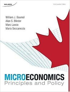 Microeconomics Principles and Policy textbook (Baumol)