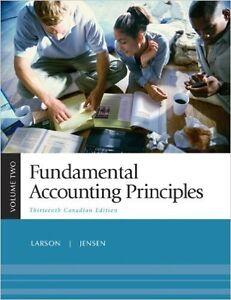 Fundamental Accounting Principles Volume 2. Thirteenth Canadian