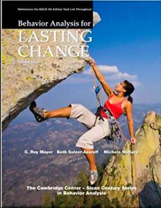 Behaviour Analysis For Lasting Change, Third Edition