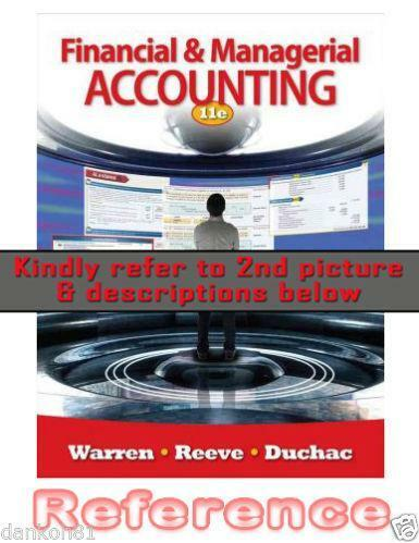 Financial and managerial accounting books ebay fandeluxe Image collections