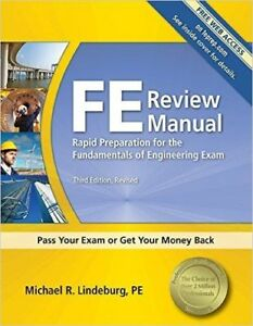 FE  review manual books by Lindeburg