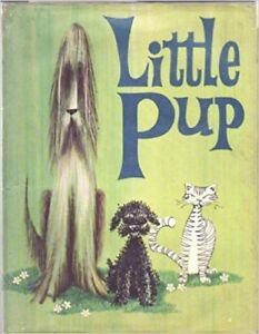Poodle Puppy and Bearded Collie Dog ~ Little Pup ~ Vintage 1969