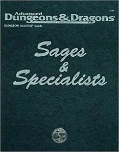 ADVANCED DUNGEONS & DRAGONS SAGES & SPECIALISTS LIKE NEW