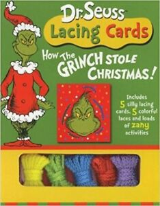 Dr. Seuss Lacing Cards: How the Grinch Stole Christmas