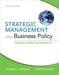 Strategic management and business policy : toward global sustain