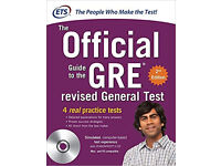 GRE official guide for 2017 books verbal and quant unused