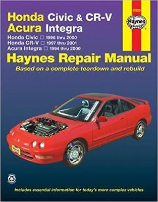 Haynes HONDA CIVIC (96-00) CX DX EX HX LX S Si VP Owners Repair Manual Handbook
