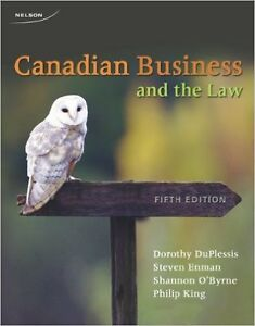 Canadian Business and the Law Textbook