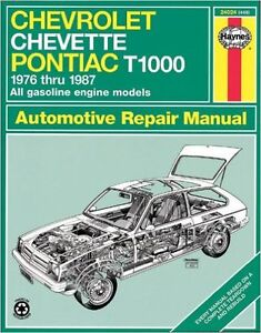 Haynes Chevette and T1000 1976 to 1987