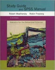 Study Guide & SPSS Manual for Statistics for the Behavioral Scie