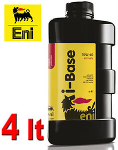 eni agip i base 15w40 4 litri olio motore diesel benzina. Black Bedroom Furniture Sets. Home Design Ideas