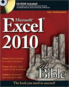 Microsoft Excel 2010 Bible (CD not included)