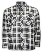 Mens Black and White Checked Shirt