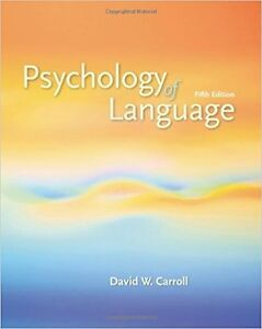 Psychology of Language fifth edition