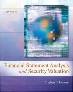 Financial Statement Analysis & Security Valuation 5th edition