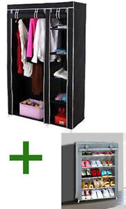 Foldable Wardrobe Cupboard Almirah IV + Shoe Rack 4 Layers Combo available at Ebay for Rs.3349