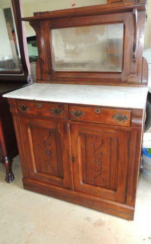 Antique Buffet Mirror Ebay