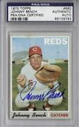 Johnny Bench Autographed Card