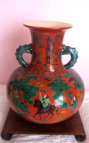 Chinese Red Vase Ebay