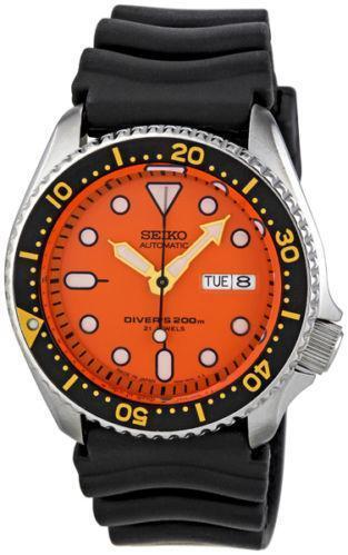Seiko skx011 wristwatches ebay - Orange dive watch ...