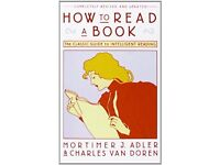 How to Read a Book (Library Binding) LIKE NEW