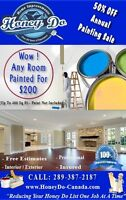PAINTING - ANY ONE ROOM PAINTED FOR $200